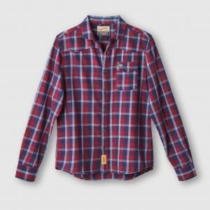 Рубашка в клетку PETROL INDUSTRIES. Цвет: темно-синий/ красный