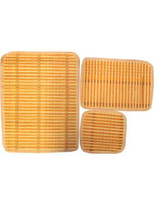 Набор плейсматов из бамбука, 3 предмета Dorothy's Нome. Цвет: оранжевый