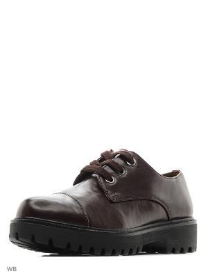 Ботинки Aotoria. Цвет: темно-коричневый