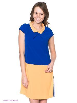 Платье Neohit. Цвет: синий, оранжевый