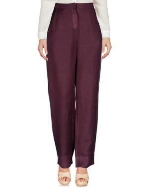 Повседневные брюки IVORIES. Цвет: баклажанный