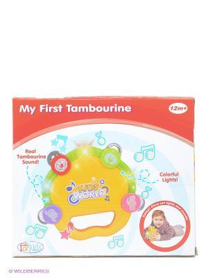 Музыкально-световой бубен Toy Target. Цвет: желтый
