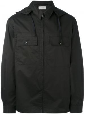 Куртка с капюшоном Lemaire. Цвет: чёрный