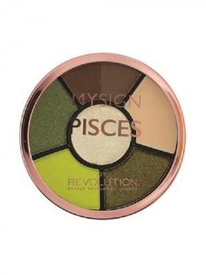 Палетка для макияжа глаз Complete Eye Base Pisces MakeUp Revolution. Цвет: темно-коричневый, персиковый, салатовый