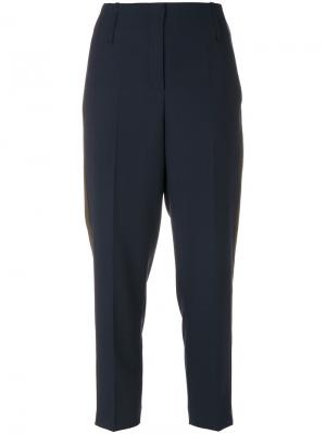 Укороченные брюки слим Luisa Cerano. Цвет: синий