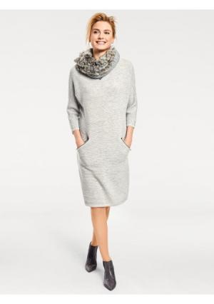 Платье B.C. BEST CONNECTIONS by Heine. Цвет: серый меланжевый, экрю