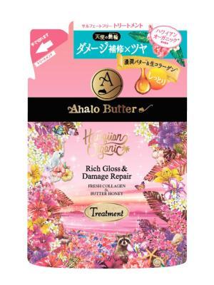 Бальзам-ополаскиватель растительный для объема, восстановления и шикарного блеска волос, 400 мл AHALO BUTTER. Цвет: розовый