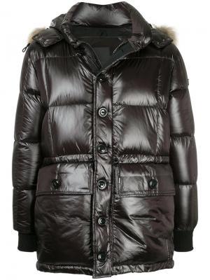 Стеганая куртка с капюшоном Tatras. Цвет: чёрный