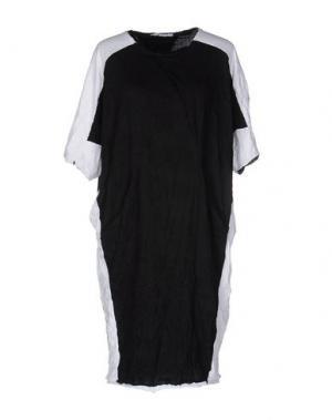 Короткое платье OBLIQUE CREATIONS. Цвет: черный