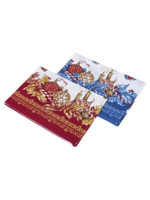 Новогодний набор кухонных полотенец Dream time. Цвет: красный, золотистый, белый, синий