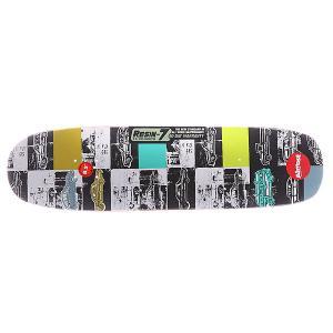 Дека для скейтборда  S5 Lotti Auto Mo R7 Multicolor 31.9 x 8.5 (21.6 см) Almost. Цвет: мультиколор