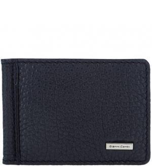 Синий кожаный зажим для денег с кармашками Gianni Conti. Цвет: синий