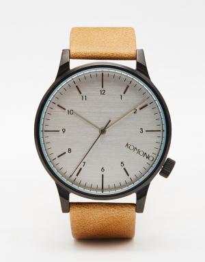 Komono Бежевые часы Winston Regal. Цвет: кэмел