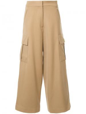 Широкие брюки Studio Nicholson. Цвет: коричневый