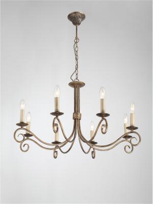 Люстра Fondi 330.8 antique Lucia Tucci. Цвет: бронзовый, светло-коричневый