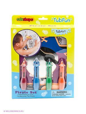 Набор для рисования в ванне Пират EDUSHAPE. Цвет: желтый, голубой