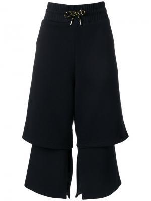 Укороченные брюки с эластичным поясом Aalto. Цвет: чёрный