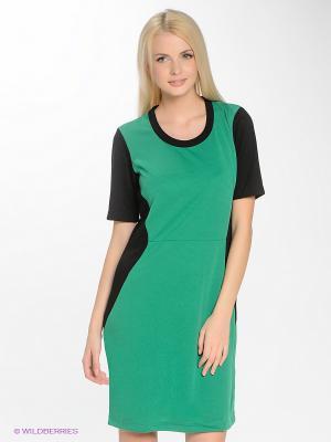 Платье Blue Seven. Цвет: зеленый, черный