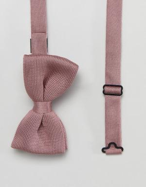 Jack & Jones Вязаный галстук-бабочка. Цвет: розовый