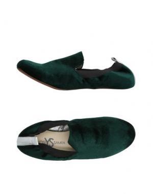 Мокасины YOSI SAMRA. Цвет: темно-зеленый