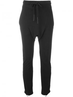 Спортивные брюки с заниженной проймой Barbara I Gongini. Цвет: чёрный