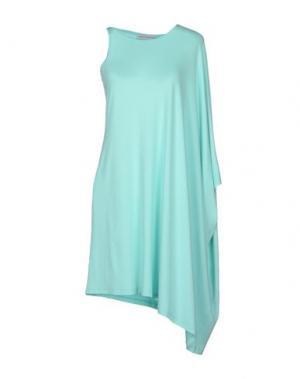Короткое платье AMAYA ARZUAGA MAILLE. Цвет: бирюзовый