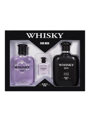 Набор Виски Блэк (Whisky Black) туалетная вода:100мл+7,5мл+гель для душа 200мл EVAFLOR. Цвет: прозрачный