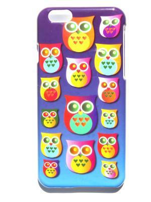 Чехол для Iphone 6/6s Совы Lola. Цвет: синий, желтый