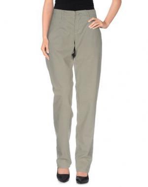 Повседневные брюки MER DU NORD. Цвет: зеленый-милитари