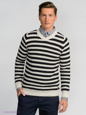 Пуловер Solid. Цвет: бежевый, темно-синий
