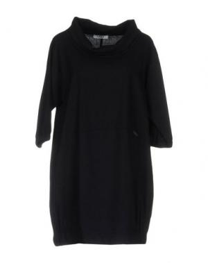 Короткое платье LA FABBRICA DEL LINO. Цвет: темно-синий