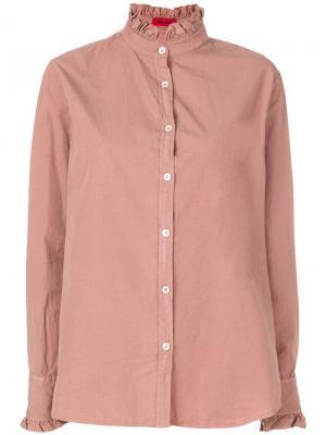 Рубашка с оборками The Gigi. Цвет: розовый и фиолетовый