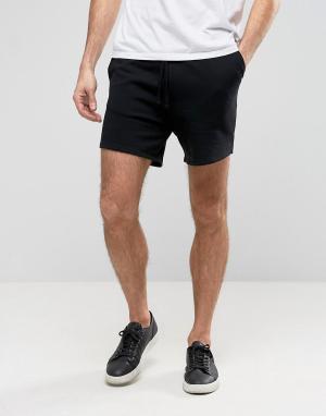 ASOS Черные трикотажные беговые шорты. Цвет: черный