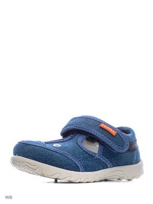 Туфли текстильные EcoTex Zebra. Цвет: синий