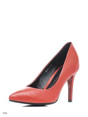 Туфли ELITE. Цвет: красный