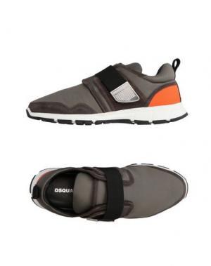 Низкие кеды и кроссовки DSQUARED2. Цвет: серый