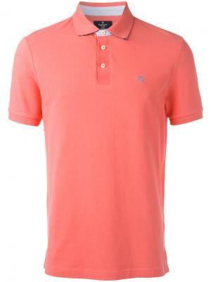 Рубашка-поло с логотипом Hackett. Цвет: розовый и фиолетовый