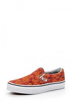 Слипоны Vans. Цвет: оранжевый