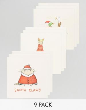 OHH DEER Новогодние открытки Santa Claws. Цвет: мульти
