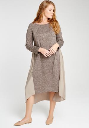 Платье W&B. Цвет: бежевый