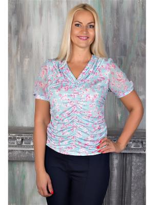 Блузка AVILA. Цвет: бирюзовый