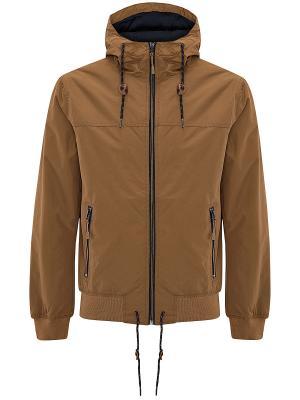 Куртка Oodji. Цвет: темно-бежевый