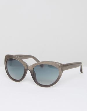 Markus Lupfer Серые солнцезащитные очки с блестками и градиентными стеклами L. Цвет: серый