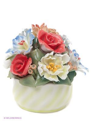 Композиция Букет Pavone. Цвет: салатовый, бежевый, коралловый