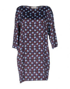 Короткое платье SONIA DE NISCO. Цвет: какао