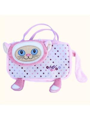 Детская сумочка путешественница Кошка, Malvina. Цвет: розовый