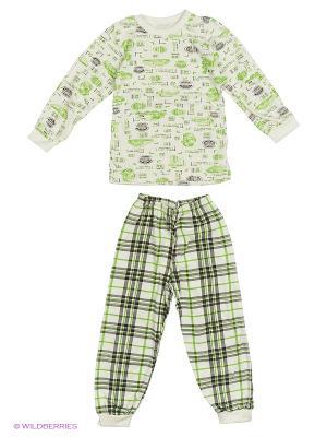 Пижама Babycollection. Цвет: зеленый