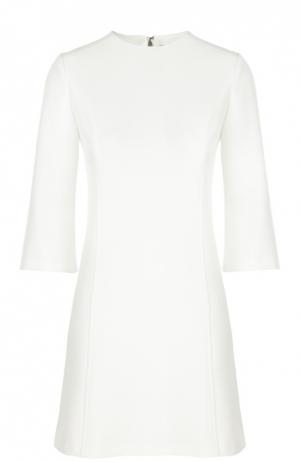Приталенное мини-платье с укороченным рукавом Alice + Olivia. Цвет: белый