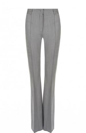 Шерстяные расклешенные брюки со стрелками Victoria Beckham. Цвет: серый