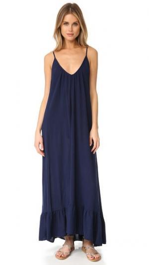Платье с оборками Paloma 9seed. Цвет: синий